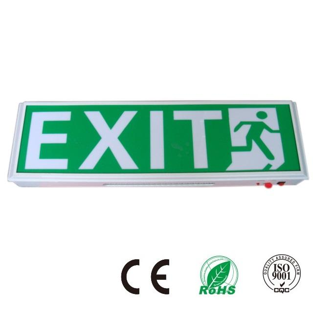 Permukaan Wall Mounted Indoor Led Keluar Darurat Sign Baterai Ni-Cad Operasi