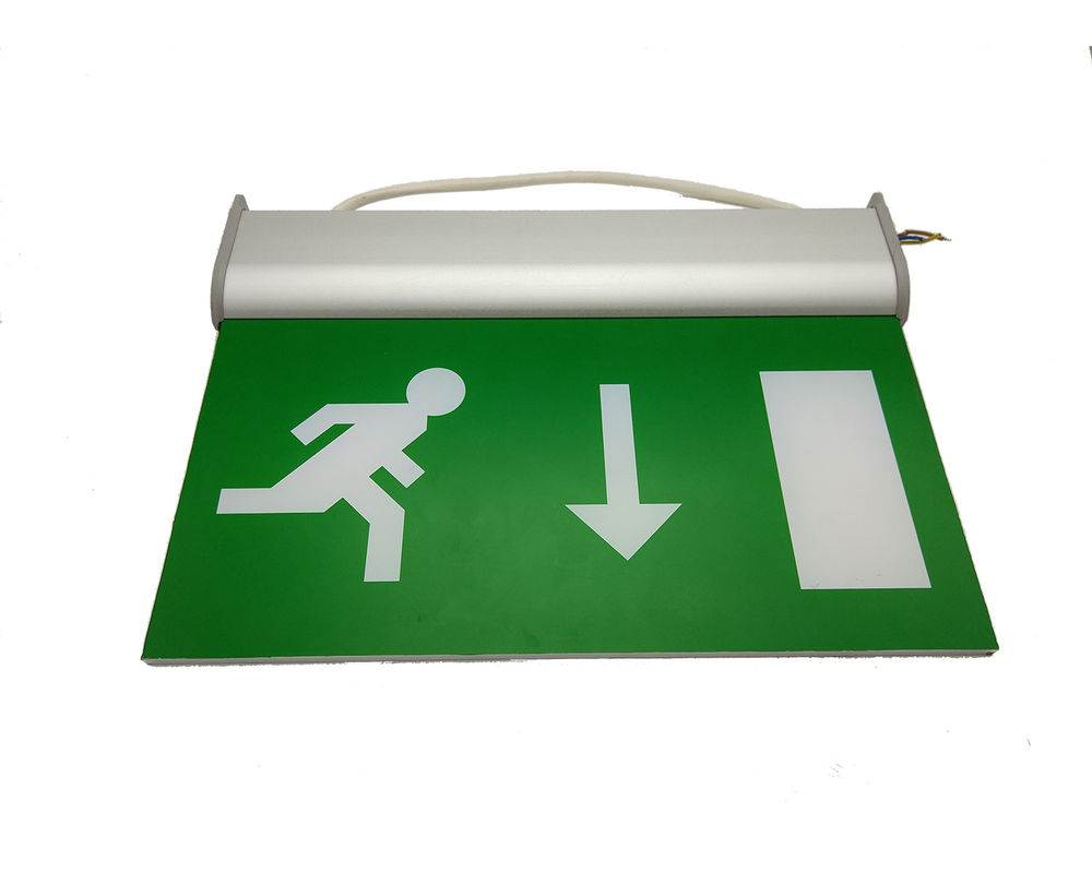 Cina 110V / 220V Double Sided Exit Signs Self Testing Running Man Emergency Light Dipertahankan pabrik